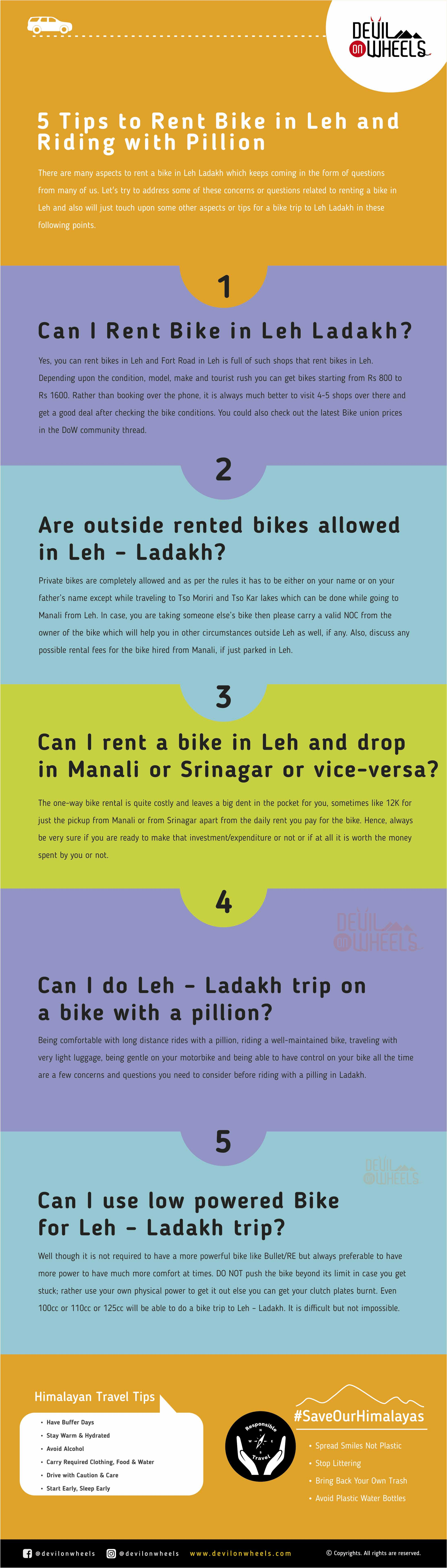 5 Important Tips to Rent Bike in Leh Ladakh and Ride with Pillion