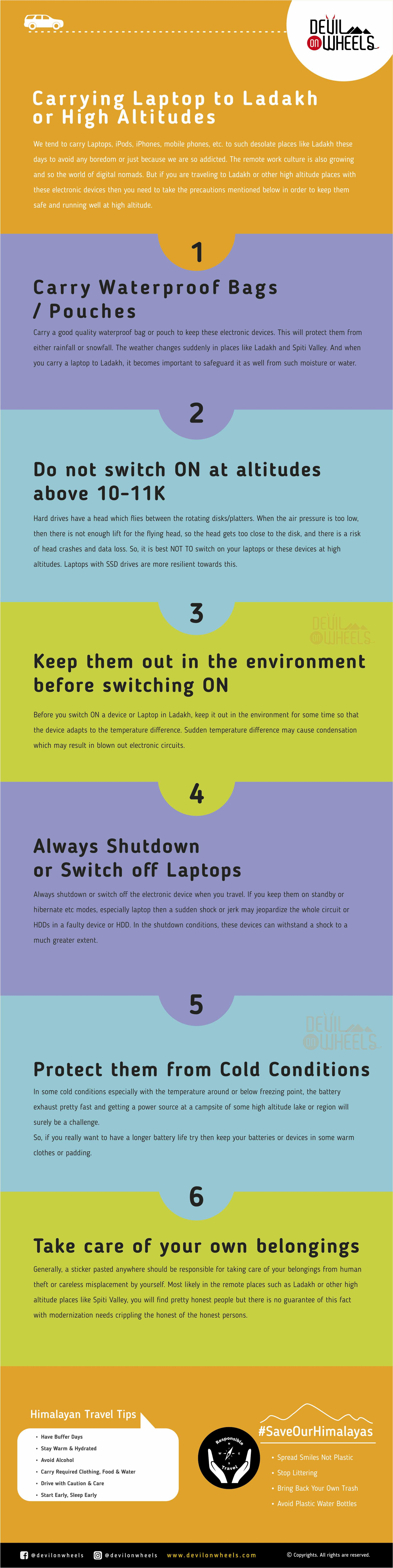 Tips to carry a laptop to Ladakh or Spiti Valley