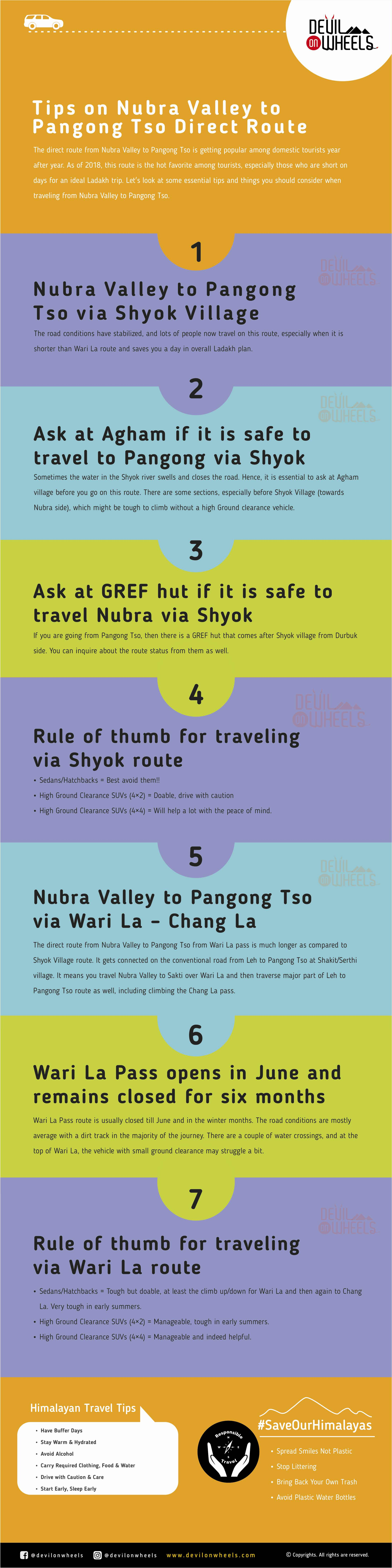 Tips about traveling directly from Nubra Valley to Pangong Tso