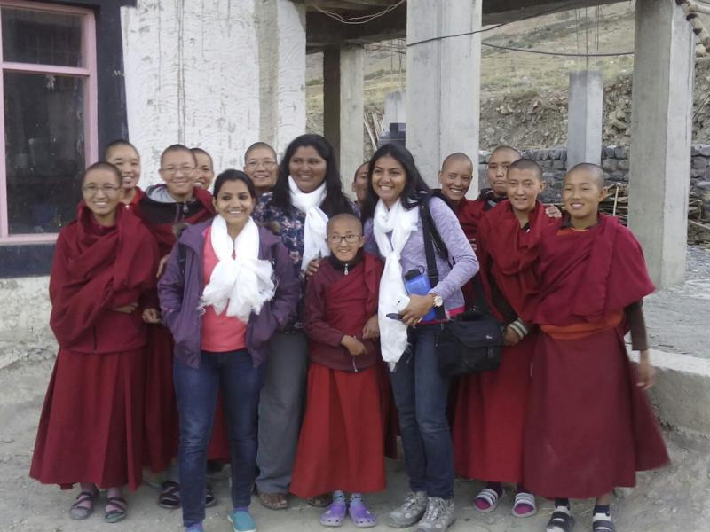 Spreading Smiles in Kaza Nunnery - Special Moments
