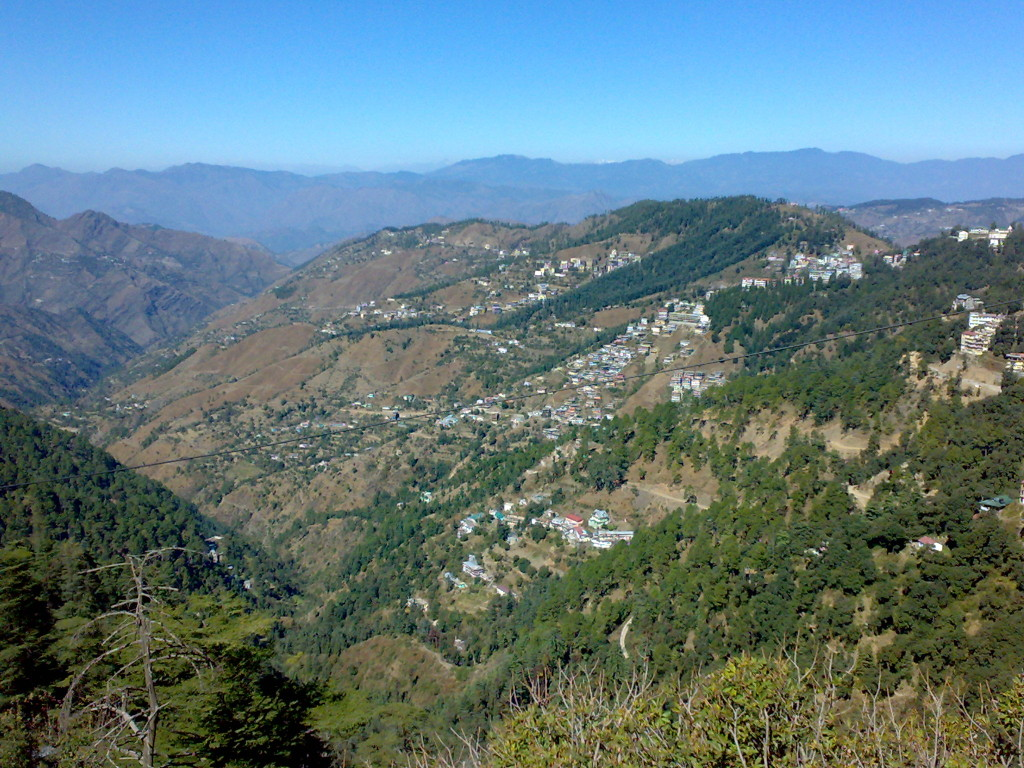 A beautiful view from Shimla's Mall Road