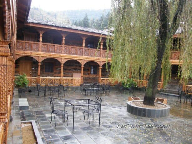 Open space in Naggar Castle