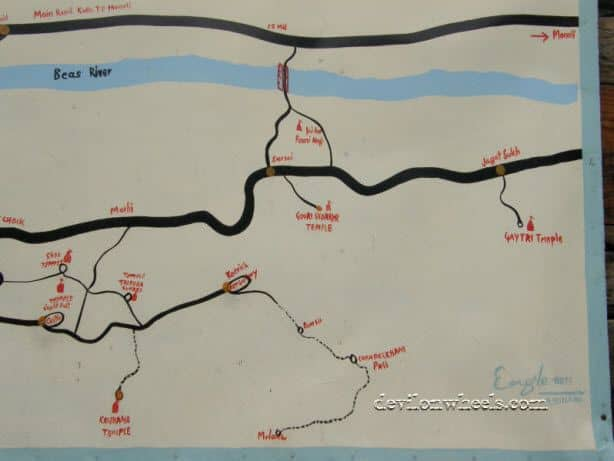 Map of Tourist Attractions near Naggar
