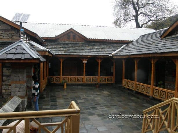 The block on the other side in Naggar Castle