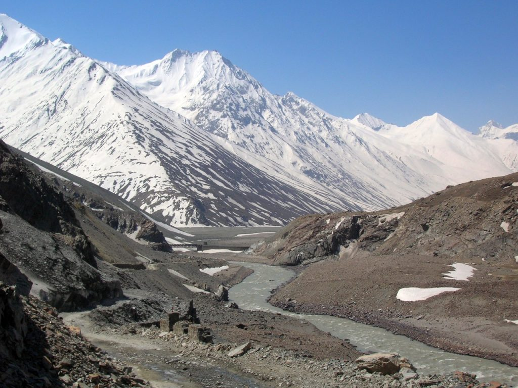 Glaciers of Spiti as seen on Chandratal Trek