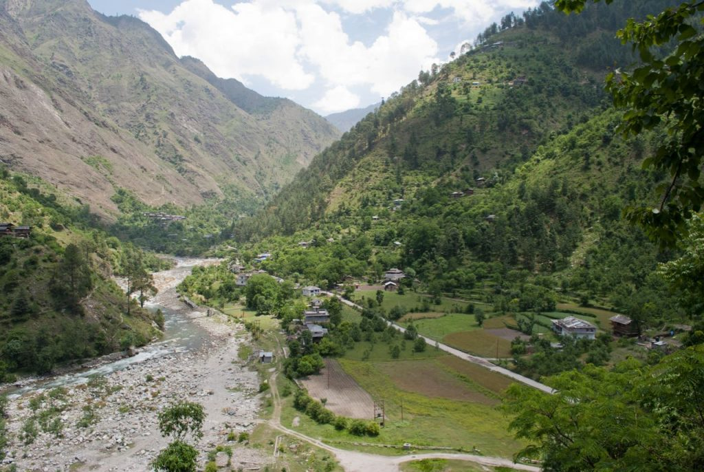 Aerial View of Tirthan Valley