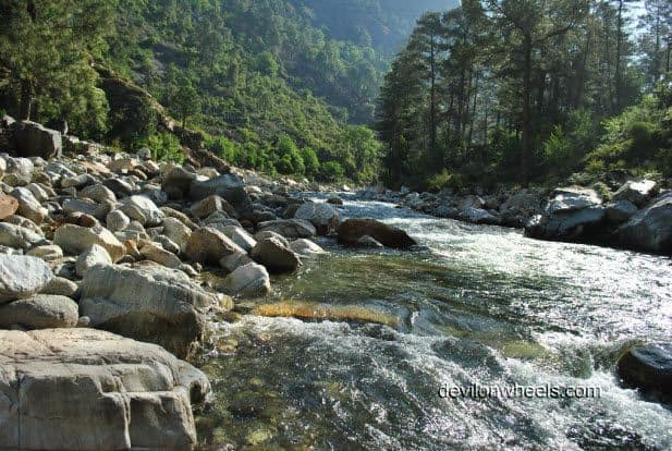 Tirthan River at Tirthan Valley