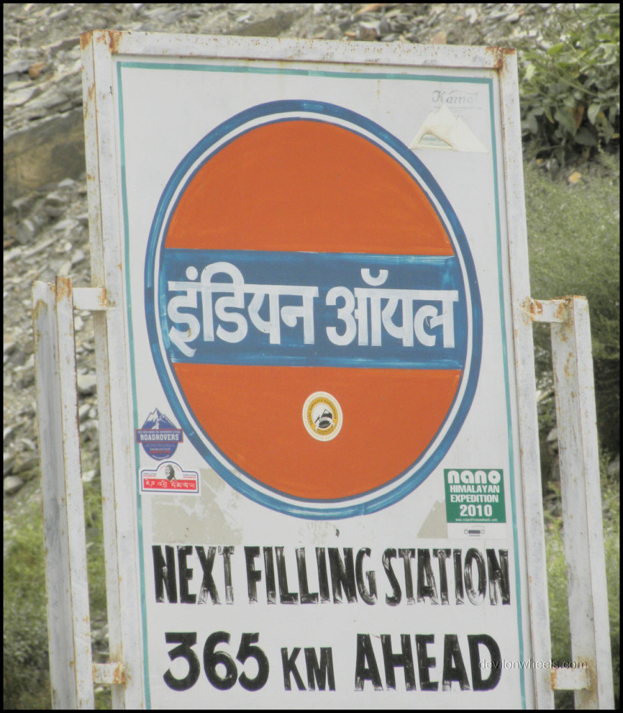 Tandi Indian Oil Petrol Pump on Manali - Leh Highway