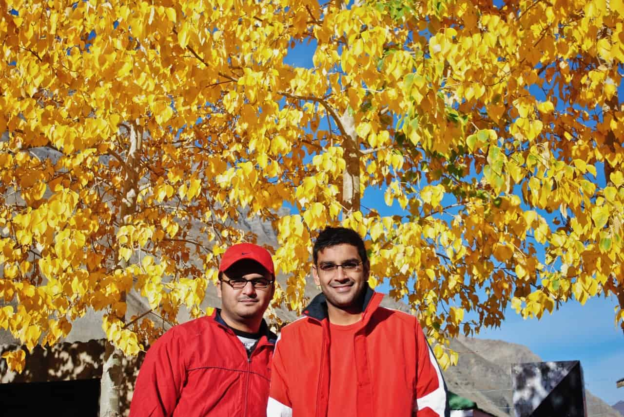 Autumn colours of Spiti Valley in October