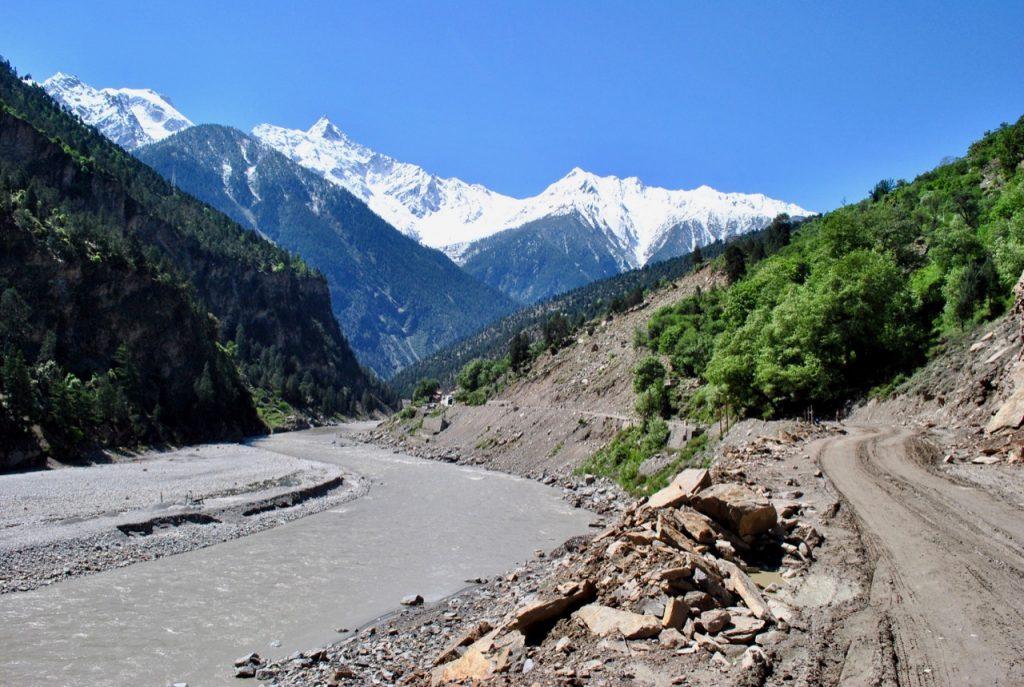 Hindustan Tibet Road near Reckong Peo Cut-off