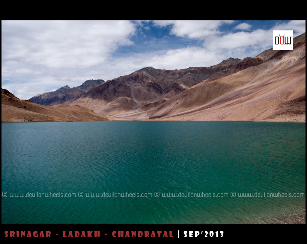 Chandratal Lake, showcasing those aqua hues from it