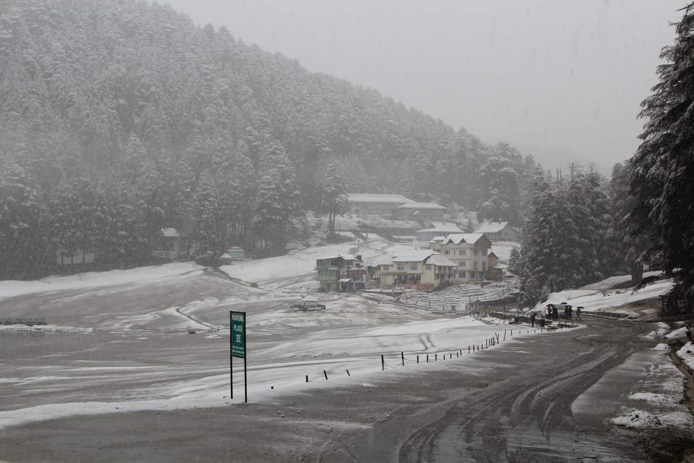 Khajjiar, a place to enjoy Snowfall near Delhi