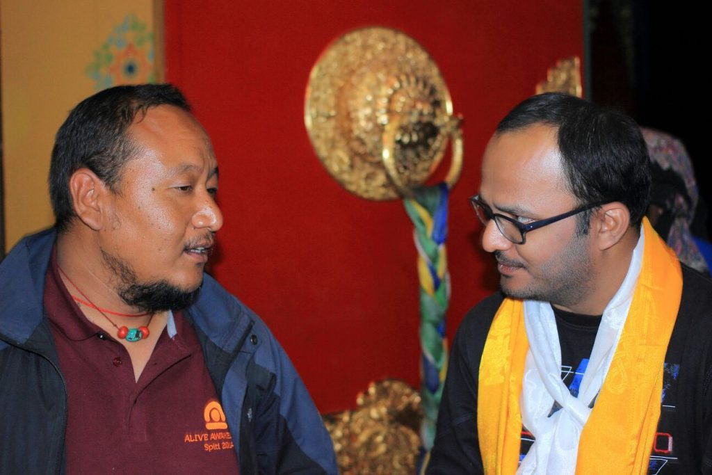 Tsering bhai (left) with me (Dheeraj - right)