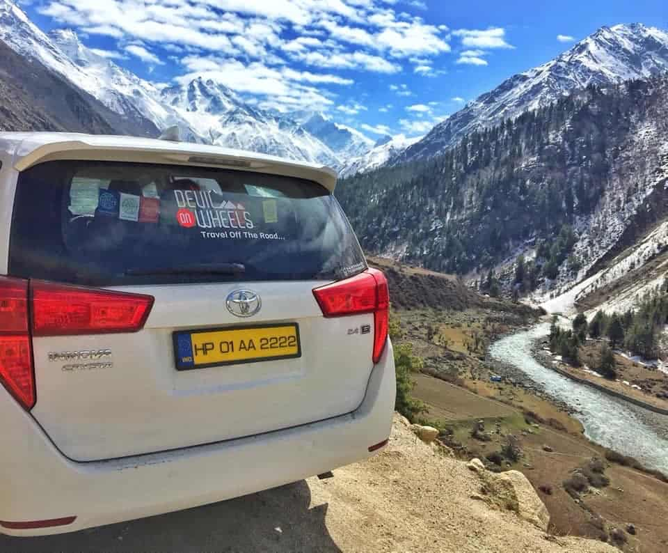 Arun with Innova at Rackcham Chitkul