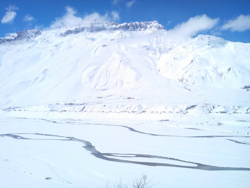 White Spiti Valley - Kaza under Snow