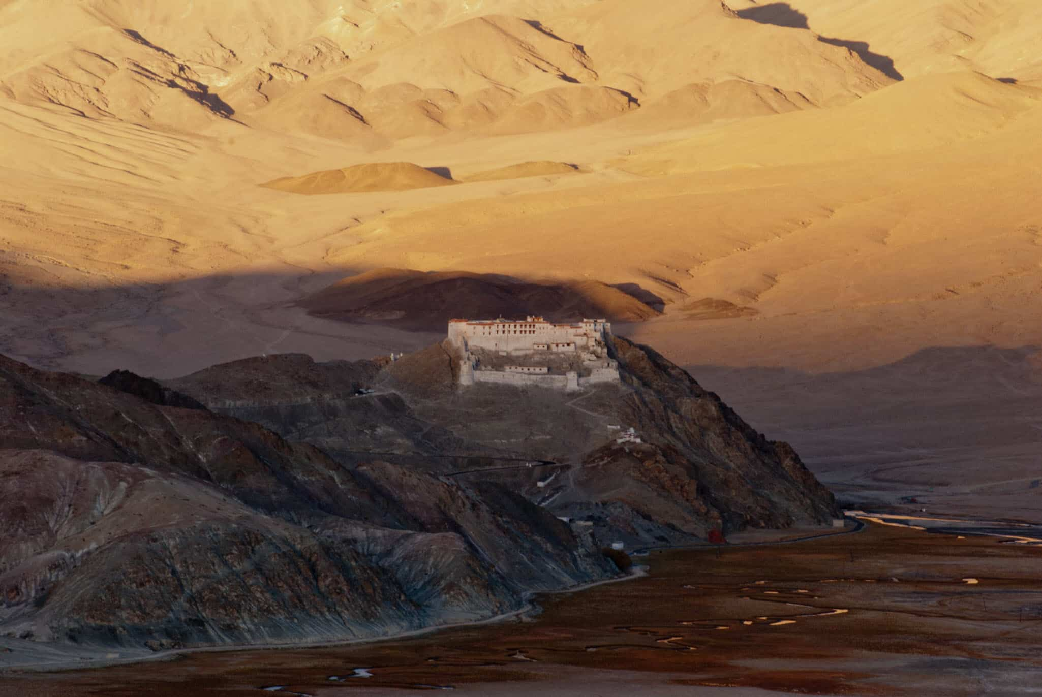 Hanle Monastery at Sunset