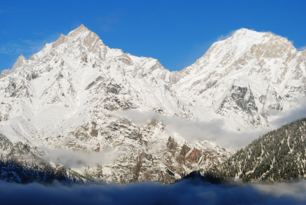 Magnificent view of Raldang Peak in Kalpa - Kinnaur Valley
