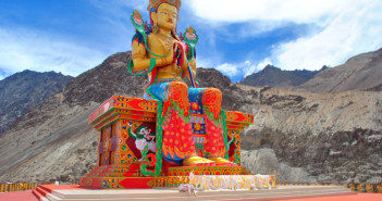 Ladakh Journey   Colors of Diskit Monastery, Nubra Valley