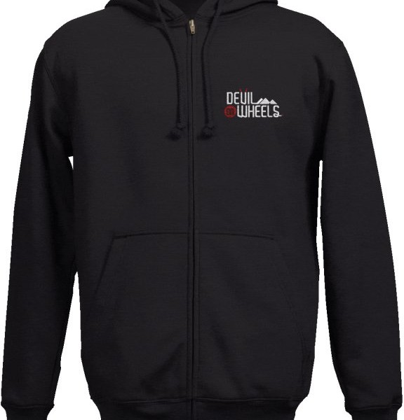 DoW Embroidered Hoodie Black
