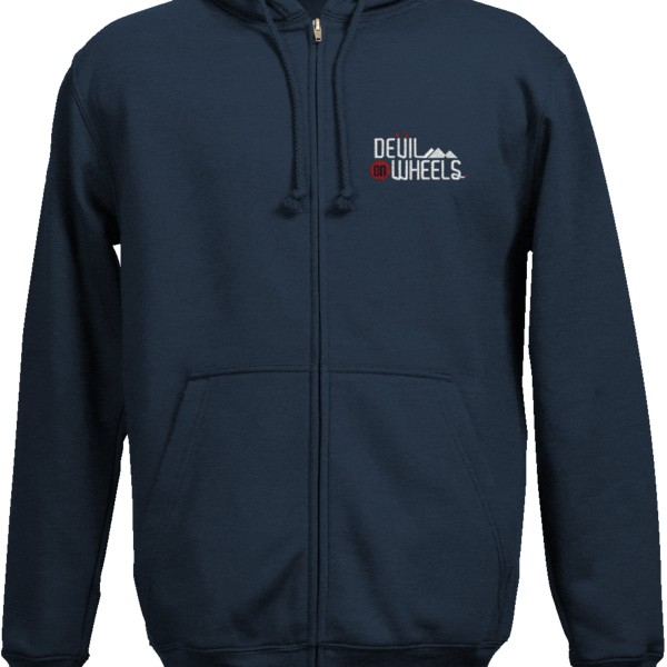 DoW Embroidered Hoodie Navy Blue