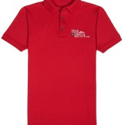 DoW Embroidered Polo T-Shirt Red
