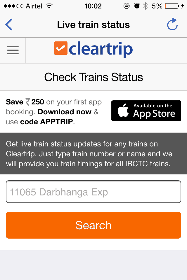 A Review of Cleartrip Mobile App
