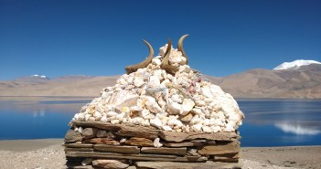 Piles of Prayers at Tso Moriri, Ladakh
