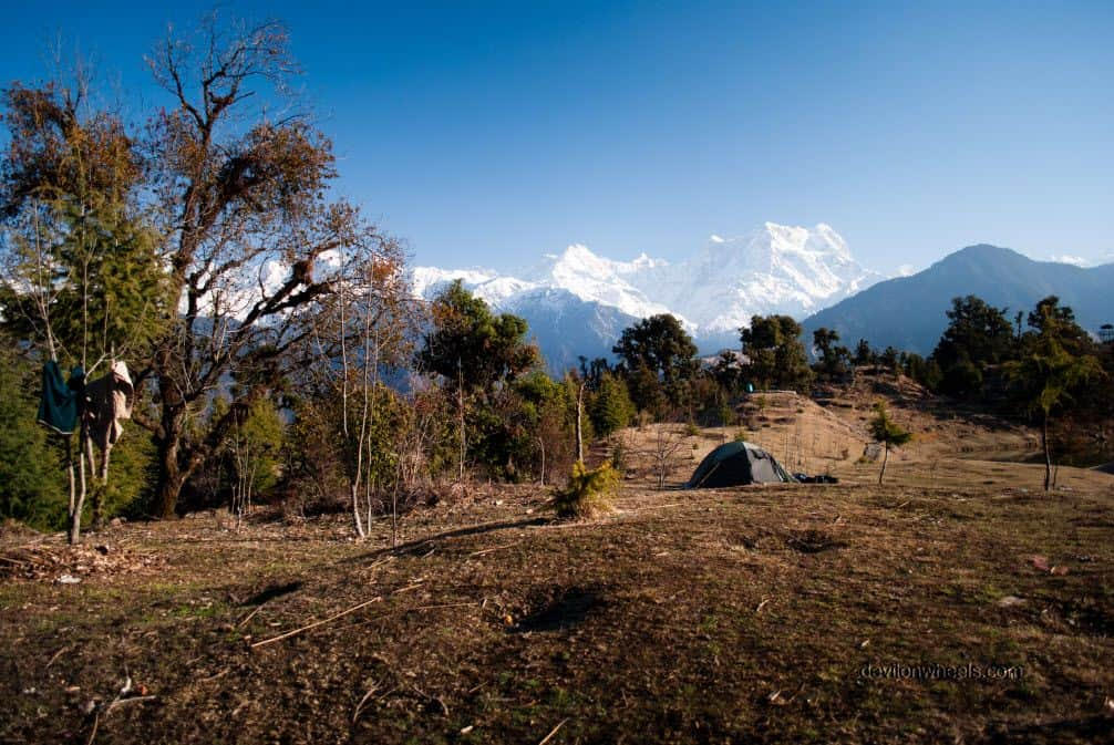 Camping in the lap of Himalayas