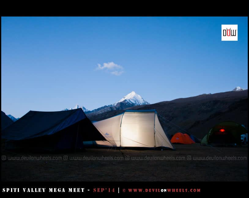 Camping near Chandratal