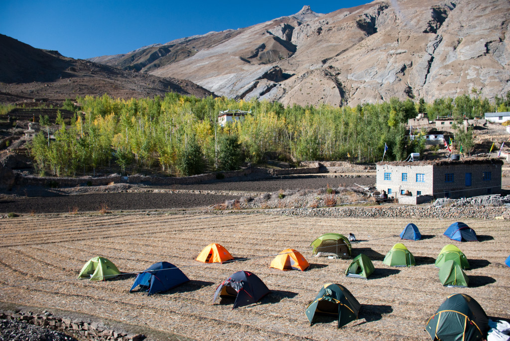 Camping in Mane Village - Spiti Valley