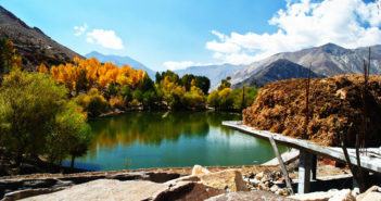 Beautiful Colors of Nako Lake in Fall