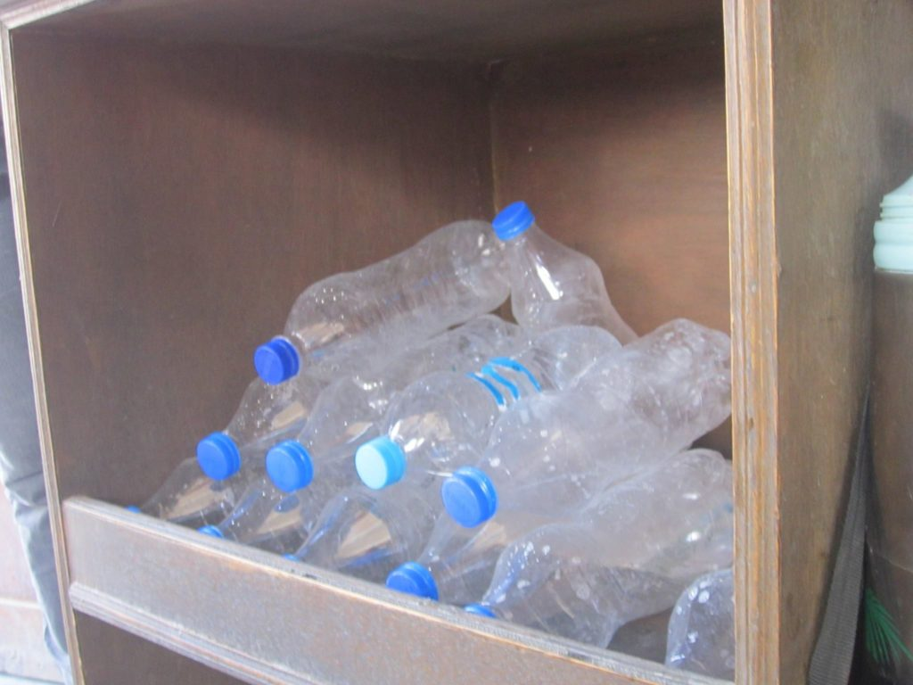 Cleaned, dried and ready for refilling water bottles. Saving someone from buying new/ creating more waste.