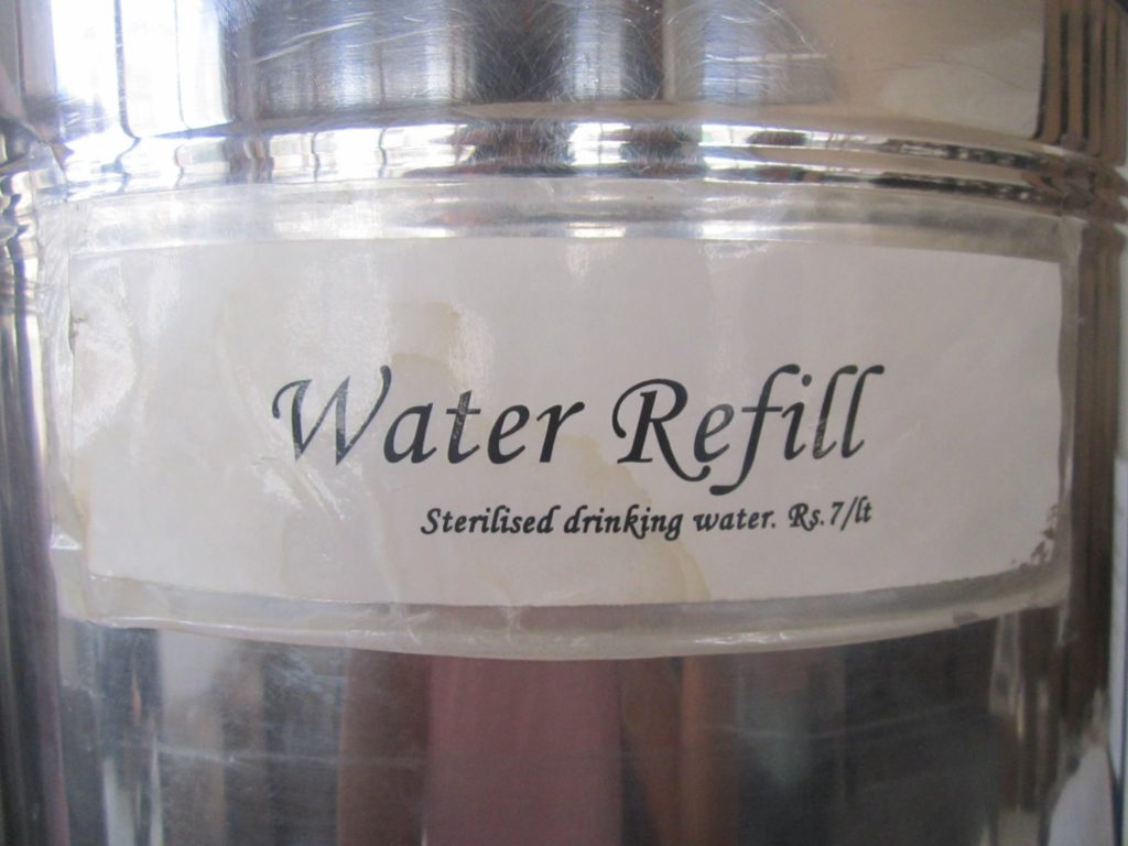 Its a pity that we travel so far to get there and then return without even tasting the water of the land. What kind of a traveler does that?  And yes its just Rs7 to refill a liter of water here, which is UV treated, thus very safe for drinking.
