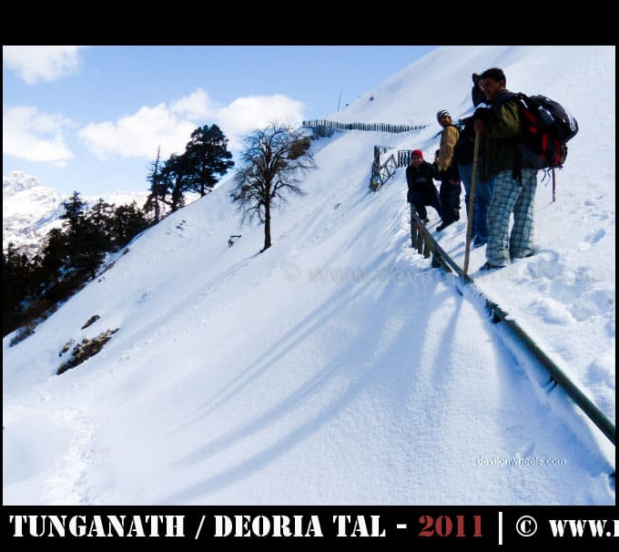 Some risky spots on the way to Tungnath - Chandrashilla