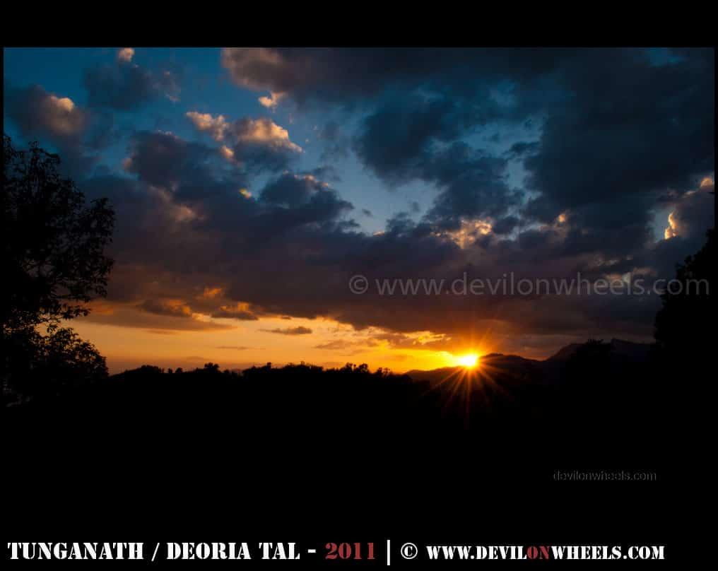 A beautiful sunset at Chopta