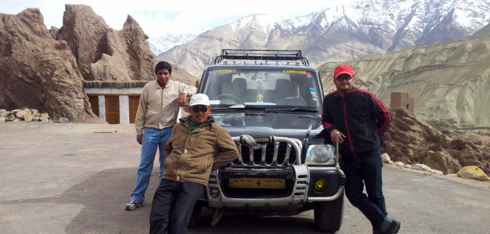 Rigzin, our driving companion & a friend for life in Ladakh