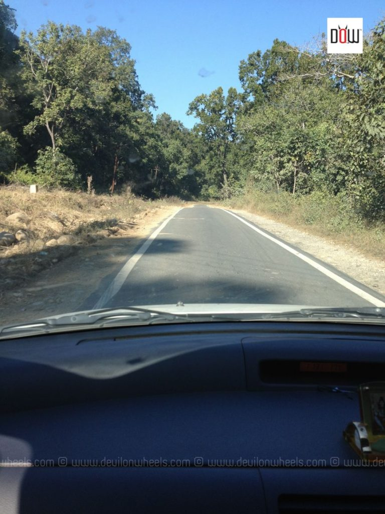 We were welcome with some good roads in the surrounding of Jim Corbett