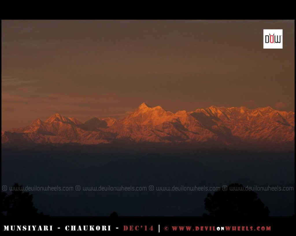 That golden glow of sunset on Himalayan range as seen from Manila