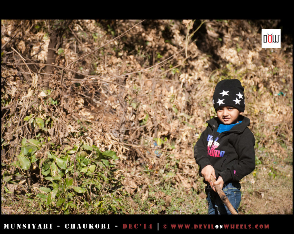 That's my Kiddo having fun on his yet another drive into Himalayas