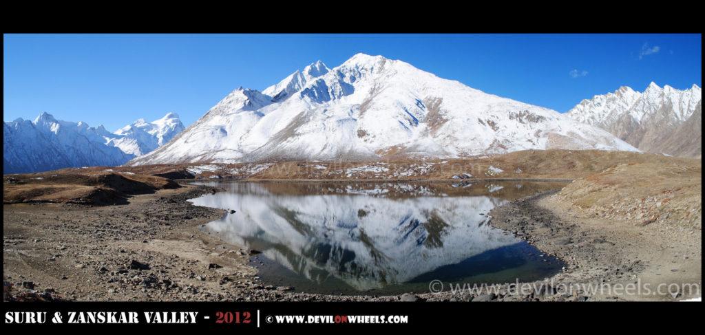 The magical reflections of twins lakes at Pensi La