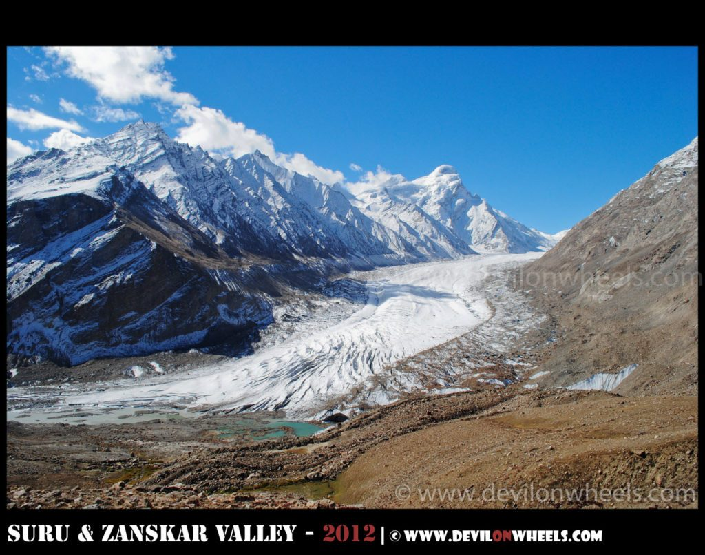 Drang Drung glacier on Kargil - Padum Road
