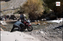 Water crossing on Motorcycle