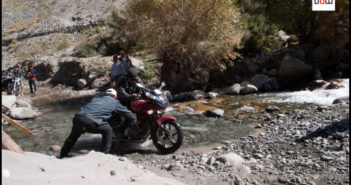 Tips for water-crossing on your motorcycle