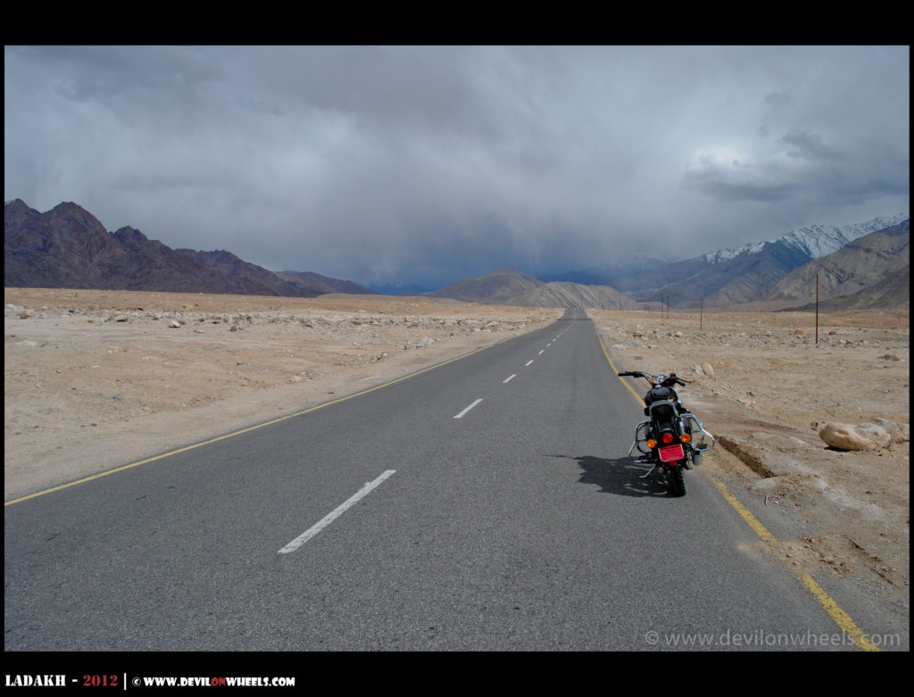 That bike ride to Basgo plains in Ladakh