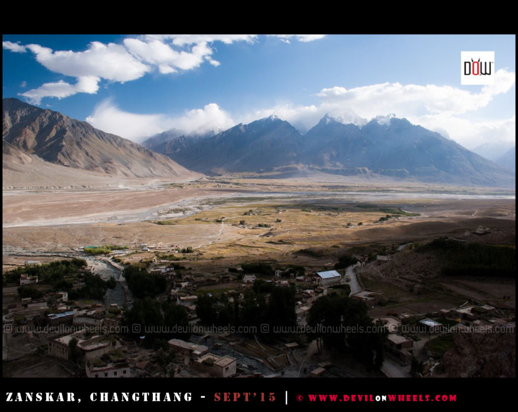 Aerial view from Karsha monastery