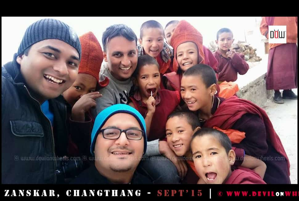 Spreading smiles in Zanskar Valley - Karsha Monastery