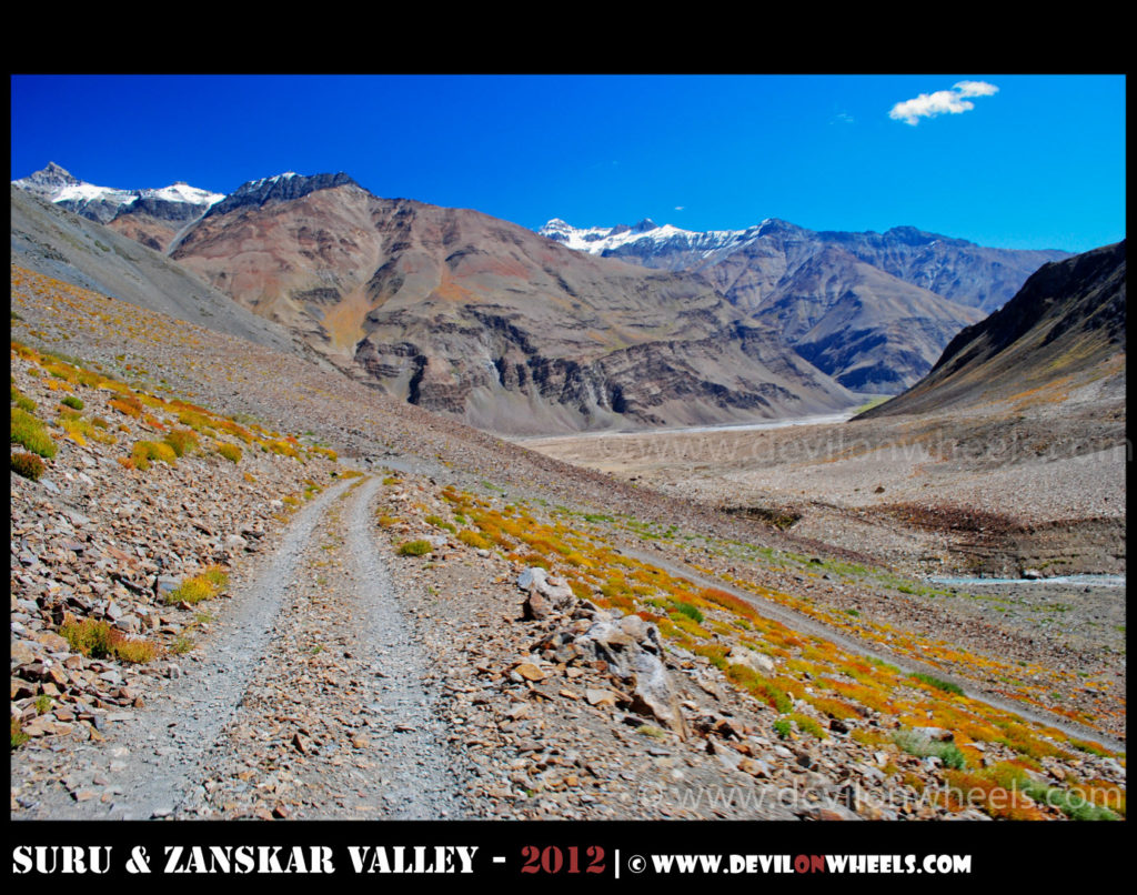 Beautiful colors on road to Zongkhul Monastery