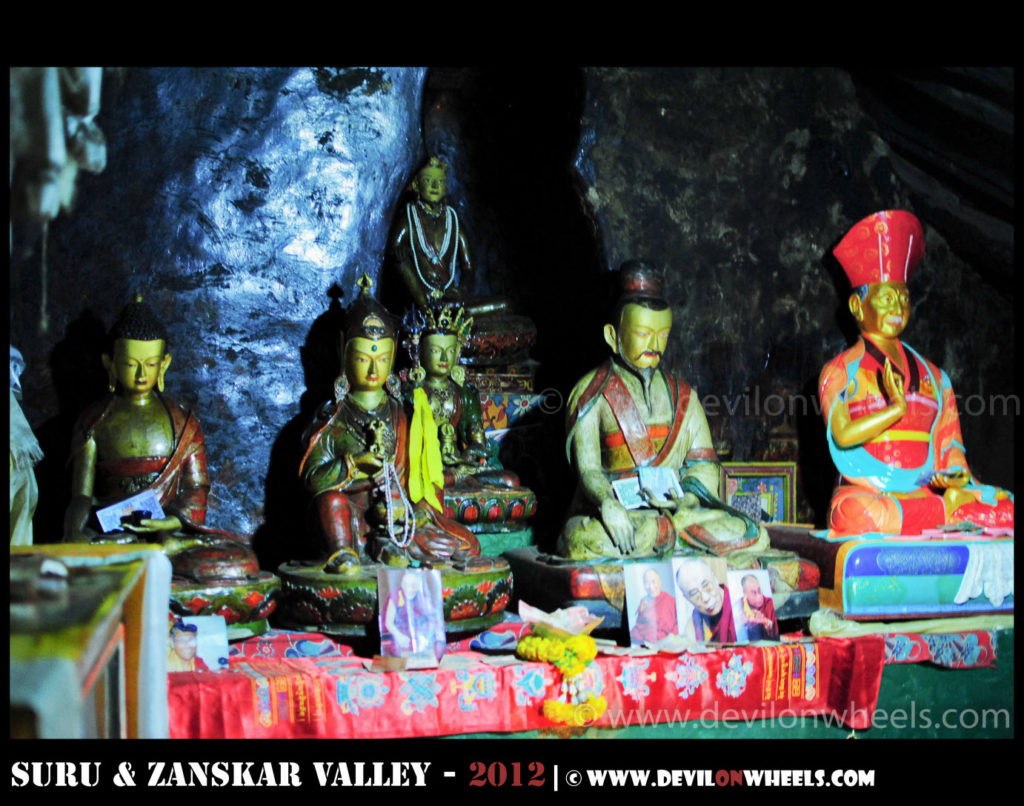 Zongkhul Monastery - An inside view of idols