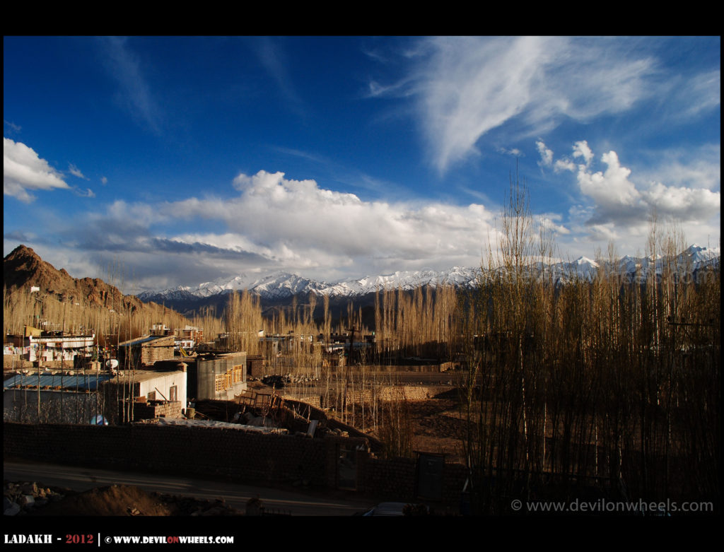 Beautiful colors of Stok Kangri range in Ladakh