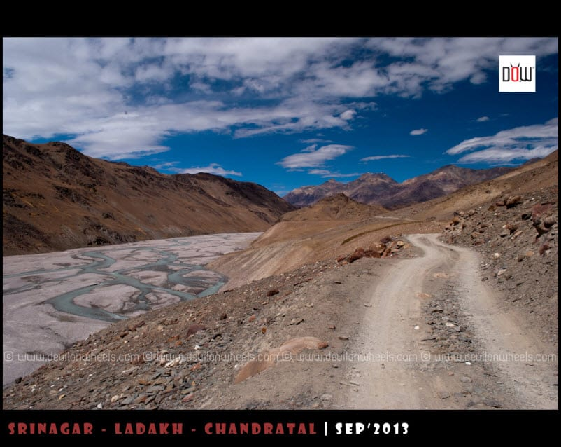 That narrow road to Chandratal lake